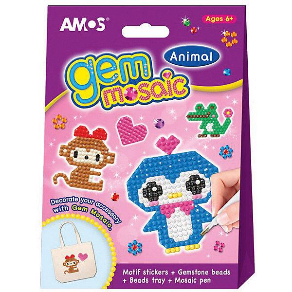 Amos Набор для детского творчества Amos Мозаика Алмазная со стразами -Веселые зверюшки