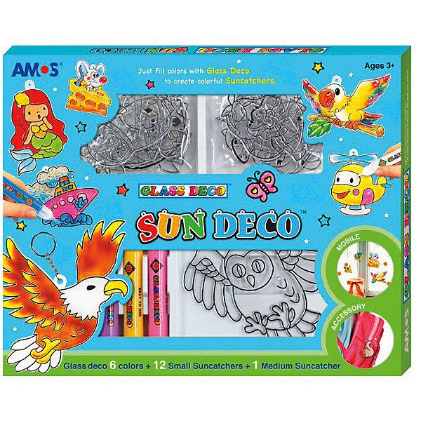 Набор витражных красок с витражами Amos, 6 цветов