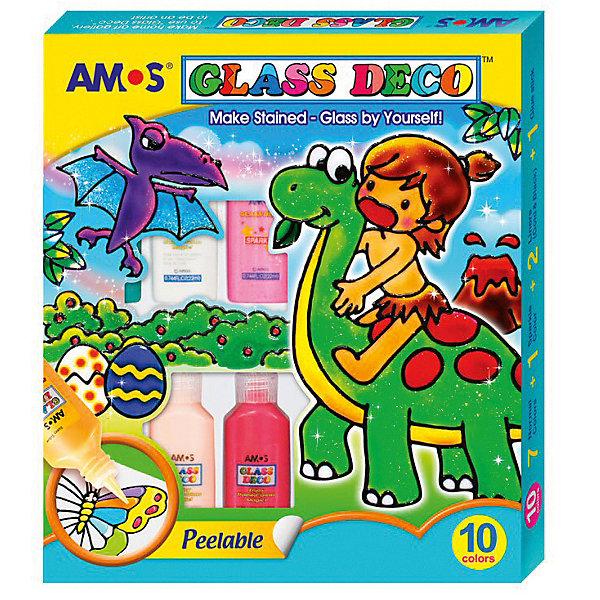 Amos Набор витражных красок Amos, 10 цветов