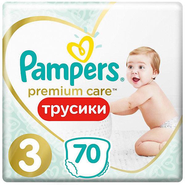 Фото Pampers Подгузники-трусики Pampers Premium Care Pants для мальчиков и девочек Midi 6-11 кг, размер 3, 70 шт.