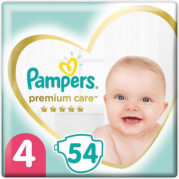 Подгузники Pampers Premium Care 9-14 кг, 54 шт, Россия, weiß/beige, Унисекс  - купить со скидкой