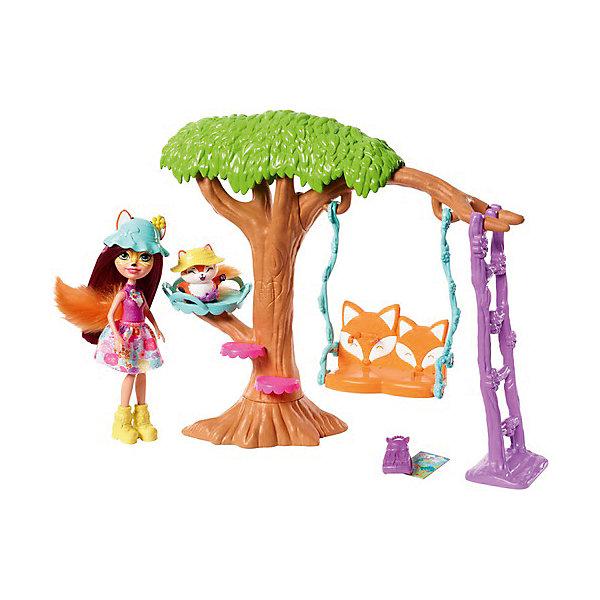 Mattel Набор с куклой Enchantimals Сюжетные наборы Фелисити Фокс и Флик mattel enchantimals fcc64 игровой набор пикник на природе