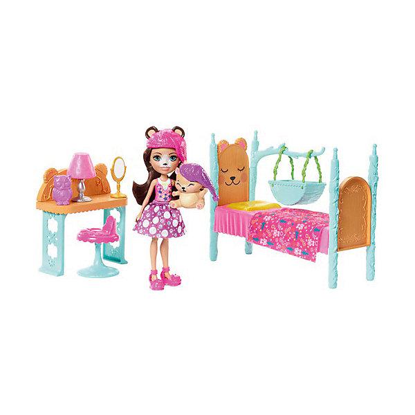 Mattel Набор с куклой Enchantimals Сюжетные наборы Брен Медведь mattel enchantimals fcc64 игровой набор пикник на природе