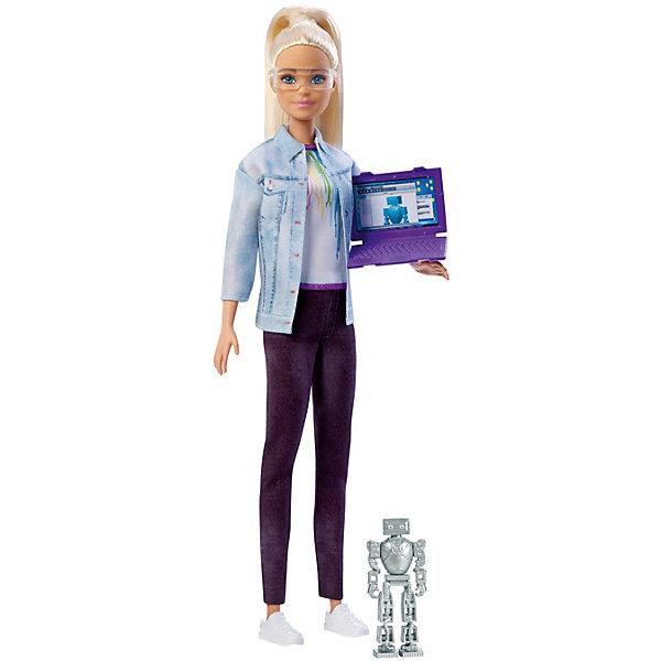 Фото - Mattel Кукла Barbie Робототехник Барби со светлыми волосами barbie dgx59 барби кукла серия стиль