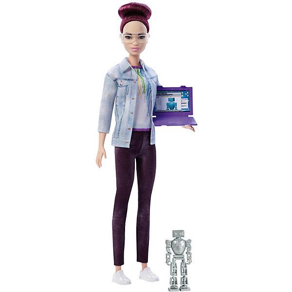 Mattel Кукла Barbie Робототехник Барби с окрашенными волосами