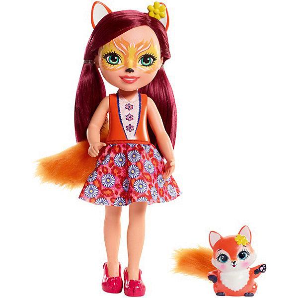 Большая кукла Enchantimals Фелисити Фокс и Флик, 31 см Mattel
