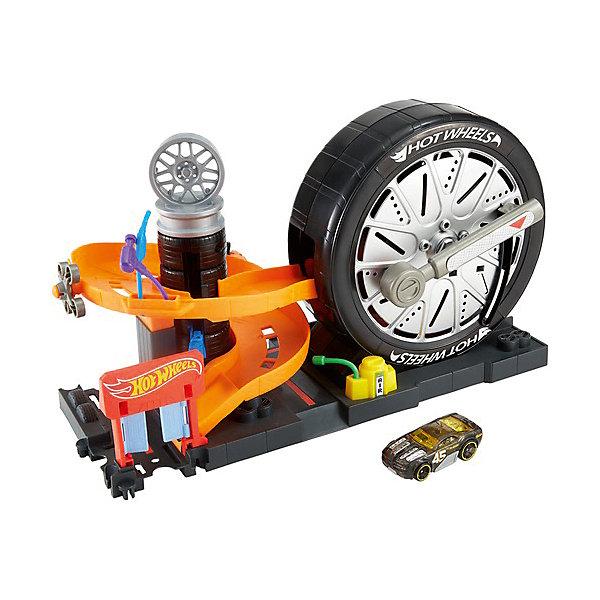 Mattel Игровой набор Hot Wheels Сити Магазин шин набор игровой для мальчика poli средний трек с умной машинкой