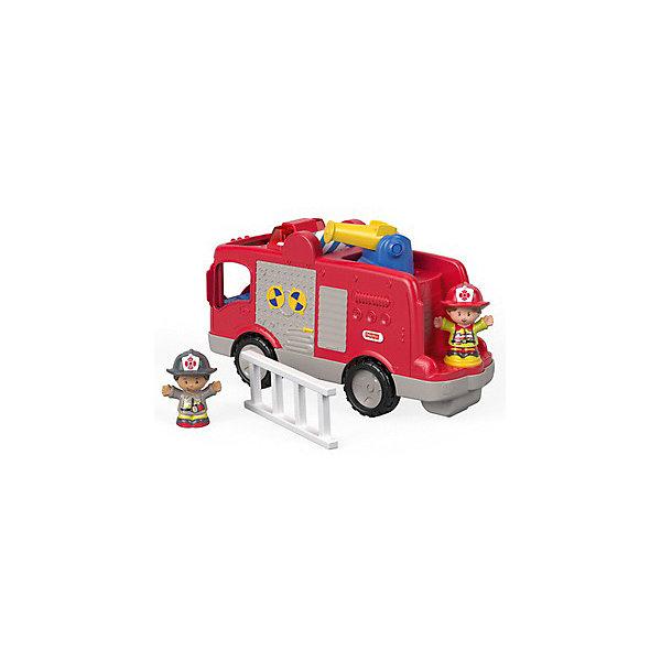 Mattel Машинка с фигурками Fisher Price Little People Пожарная машина little people фигурка veterinarian ella