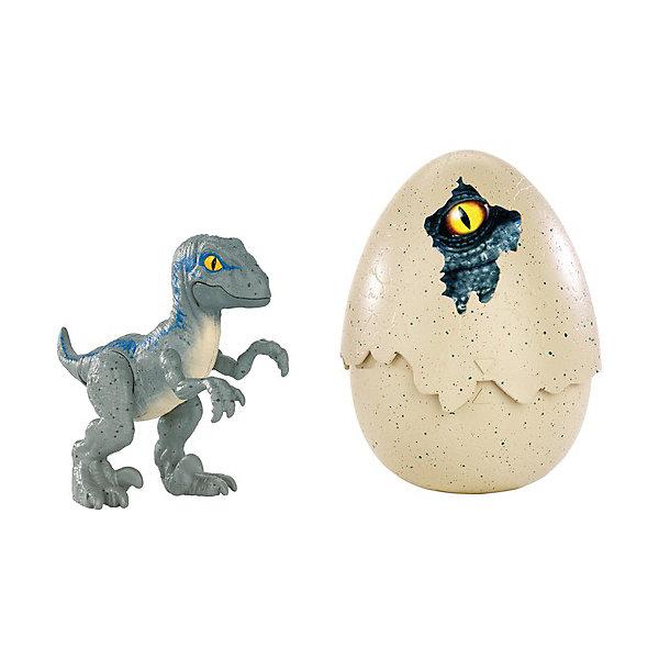 Mattel Динозавры в яйцах Jurassic World Велоцираптор, синий