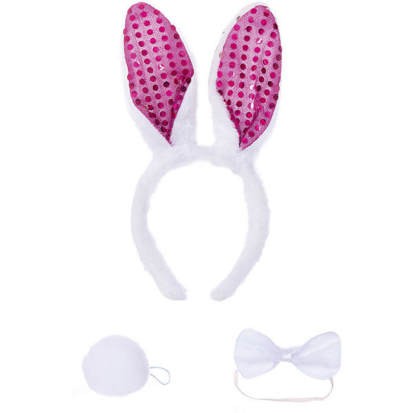 Феникс-Презент Маскарадный набор Феникс-Презент Белый кролик, 3 предмета ободок маскарадный magic time горошек 78231
