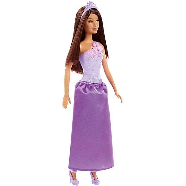 Mattel Кукла Barbie Принцесса в сиреневом платье, 28 см
