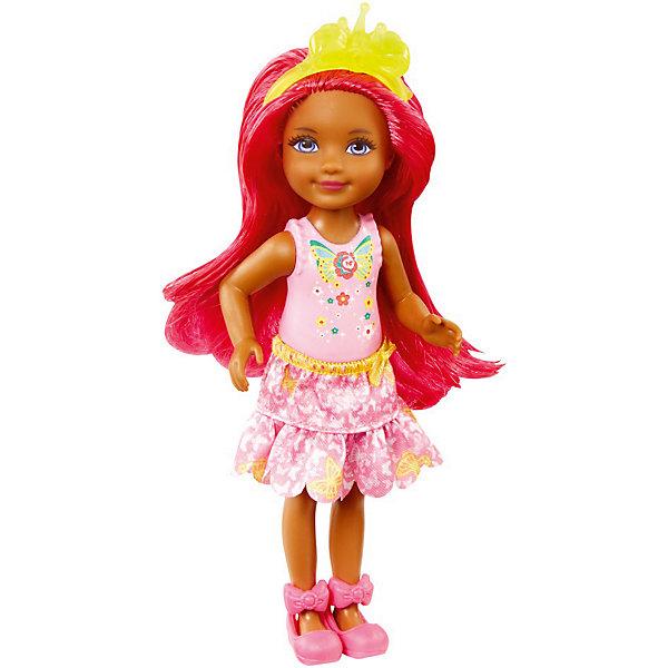 Mattel Мини-кукла Barbie Dreamtopia Принцесса Челси с розовыми волосами, 14 см кукла mattel barbie принцессы dmm06 блондинка