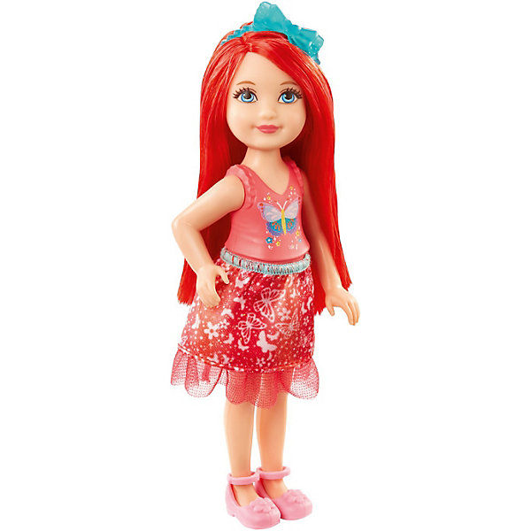 Mattel Мини-кукла Barbie Dreamtopia Принцесса Челси с рыжими волосами, 14 см