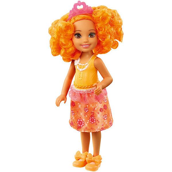 Mattel Мини-кукла Barbie Dreamtopia Принцесса Челси с оранжевыми волосами, 14 см кукла челси в беседке barbie fdb34