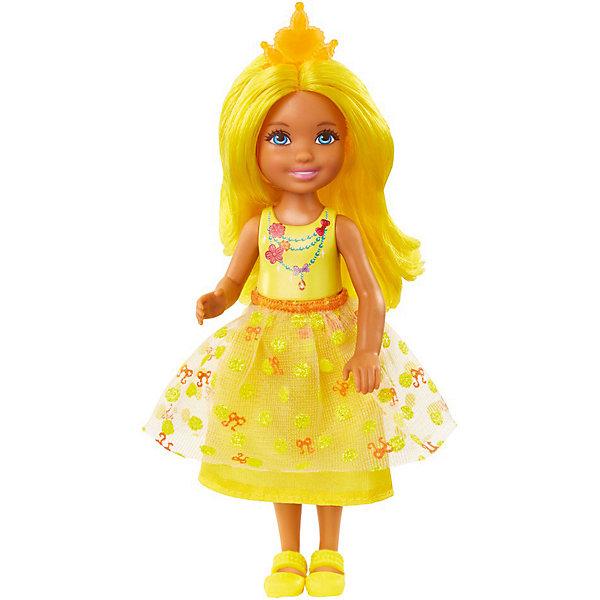Mattel Мини-кукла Barbie Dreamtopia Принцесса Челси с жёлтыми волосами, 14 см