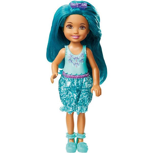 Mattel Мини-кукла Barbie Dreamtopia Принцесса Челси с голубыми волосами, 14 см