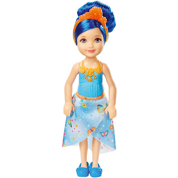 Mattel Мини-кукла Barbie Dreamtopia Принцесса Челси с синими волосами, 14 см mattel barbie барби радужная принцесса с волшебными волосами