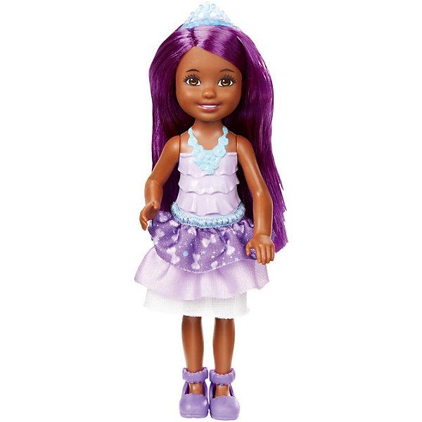 Mattel Мини-кукла Barbie Dreamtopia Принцесса Челси с фиолетовыми волосами, 14 см кукла mattel barbie принцессы dmm06 блондинка