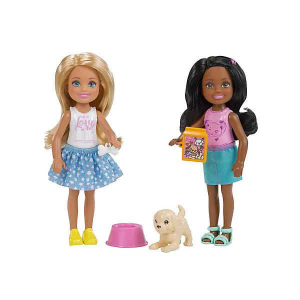 купить Mattel Набор кукол Barbie Челси с питомцем дешево