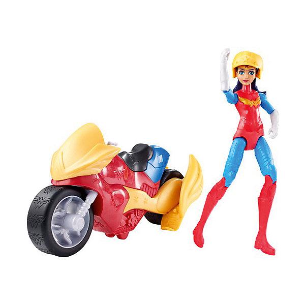 Mattel Набор с фигуркой DC Super Hero Girls Чудо-женщина с мотоциклом, 15 см mattel набор с фигуркой dc super hero girls чудо женщина с мотоциклом 15 см