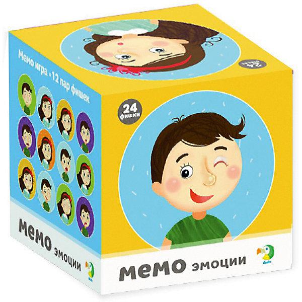 Dodo Настольная игра-мемо Dodo Эмоции, 24 фишки настольные игры dodo настольная игра домино животные