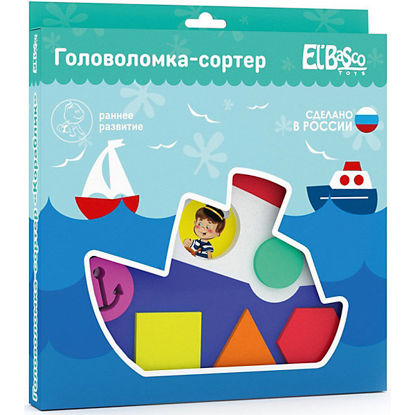 Купить Головоломка-сортер El`Basco Toys Кораблик , Россия, Унисекс