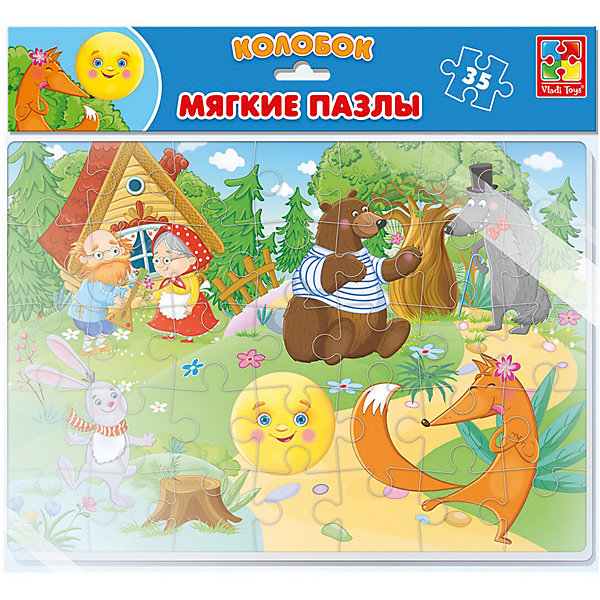 Vladi Toys Мягкие пазлы Vladi Toys Сказки Колобок, 35 элементов vladi toys пазл магнитный vladi toys колобок