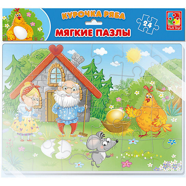 Vladi Toys Мягкие пазлы Vladi Toys Сказки Курочка Ряба, 24 элемента пазлы проф пресс курочка ряба 11320