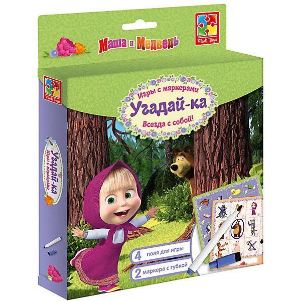 Vladi Toys Настольная игра с маркером Маша и Медведь Угадайка