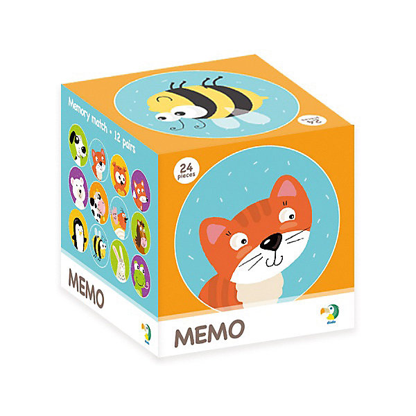 Dodo Настольная игра-мемо Животные, 24 фишки