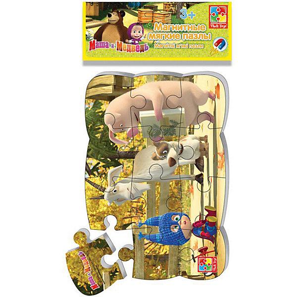 Vladi Toys Магнитные пазлы Маша и Медведь супер-герой