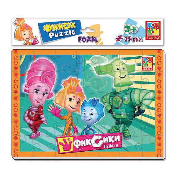 Vladi Toys Мягкие пазлы Vladi Toys Фиксики Семья, 35 элементов пазлы фиксики рыбки