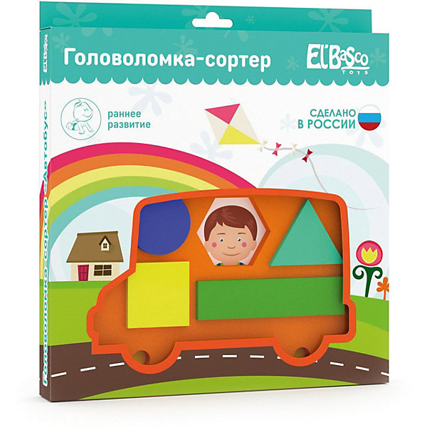 El`Basco Toys Головоломка-сортер El`Basco Toys Автобус игра головоломка recent toys cubi gami