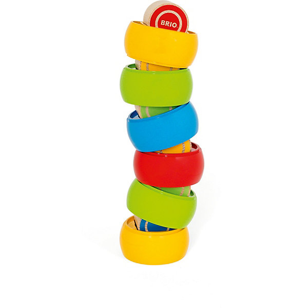 BRIO Развивающая игрушка Brio Сборная башенка, 12 деталей игрушка