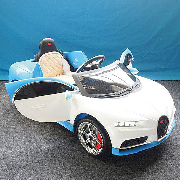 Hebei Детский электромобиль Hebei Coupe, бело-голубой электромобили hebei bmw 2 series coupe