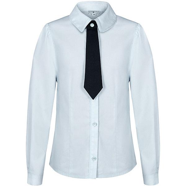Купить Блуза Junior Republic для девочки, Китай, голубой, 140, 170, 146, 128, 152, 122, 134, 158, 164, Женский