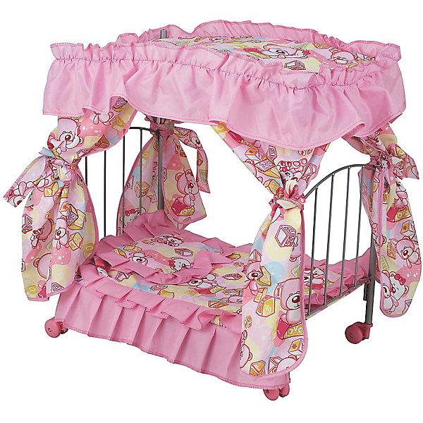 Buggy Boom Кроватка для кукол Loona, розово-черная