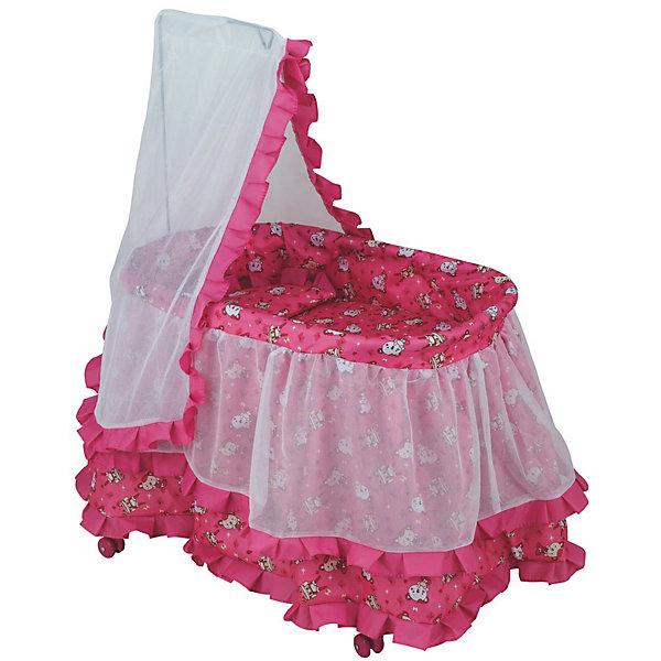 Buggy Boom Кроватка для кукол Buggy Boom Loona, розовая ролевые игры buggy boom кукольный стул для кормления loona 8775