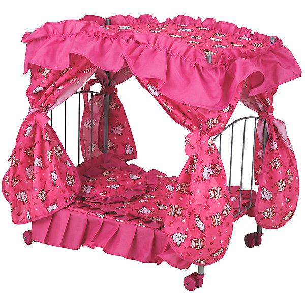 Buggy Boom Кроватка для кукол Loona, ярко-розовая