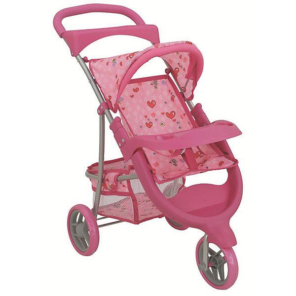 Buggy Boom Коляска для кукол Buggy Boom Nadin трансформер, светло-розовая buggy boom коляска трость для кукол buggy boom светло розовая
