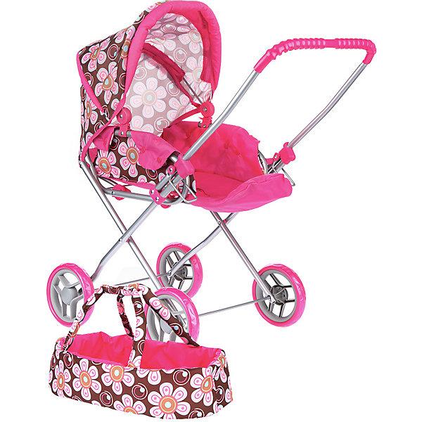Купить Коляска для кукол Buggy Boom Mixy трансформер, коричнево-розовая, Китай, braun/pink, Женский