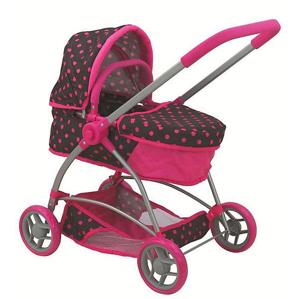 Купить Коляска для кукол Buggy Boom Amidea трансформер, розовая с черным в горошек, Китай, черный/розовый, Женский