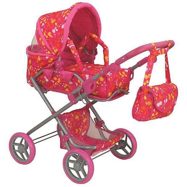 Buggy Boom Коляска для кукол Buggy Boom Infinia трансформер, 77х44х83 см, розово-желтая