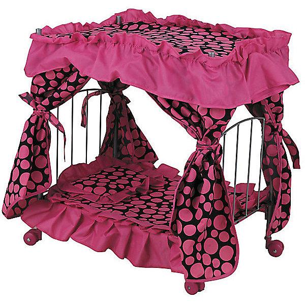 Купить Кроватка для кукол Buggy Boom Loona , светло-розовая, Китай, черный/розовый, Женский