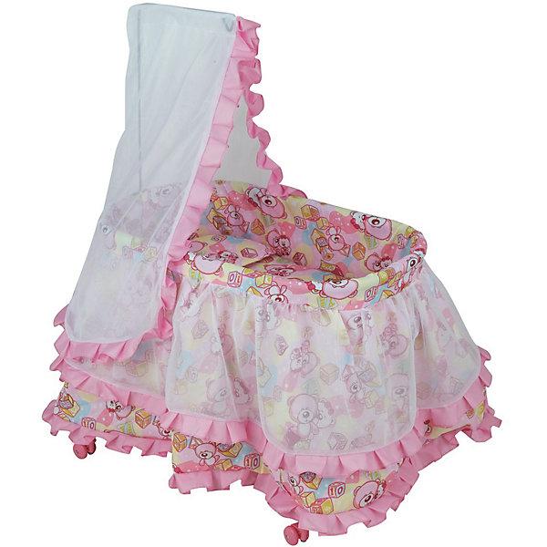 Buggy Boom Кроватка для кукол Buggy Boom Loona , светло-розовая ролевые игры buggy boom кукольный стул для кормления loona 8775