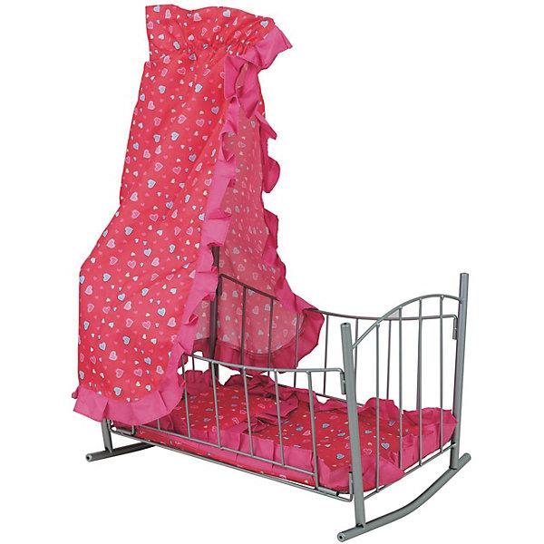 Buggy Boom Кроватка для кукол Buggy Boom Loona с балдахином, розовая ролевые игры buggy boom кукольный стул для кормления loona 8775