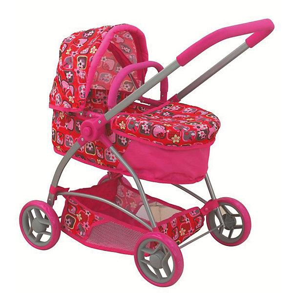 Buggy Boom Коляска для кукол Buggy Boom Amidea трансформер, розовая с рисунком wheel