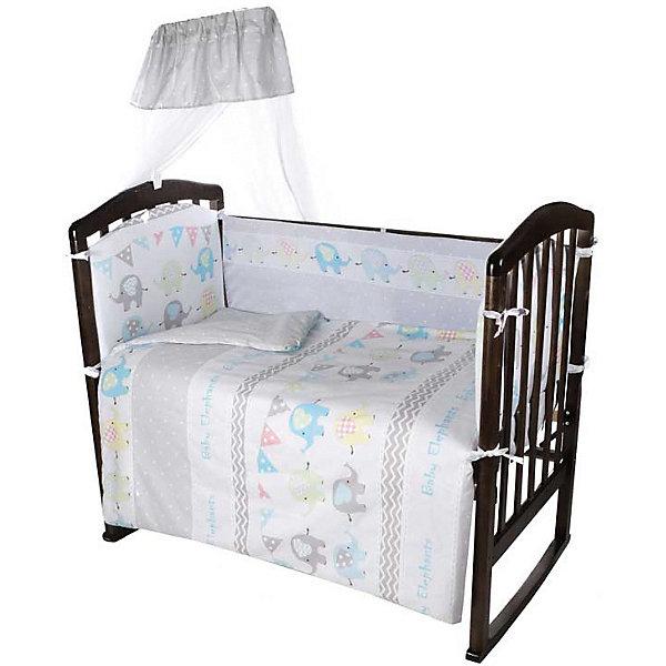 купить Ifratti Комплект в кроватку Ifratti Baby Elephants, 7 предметов дешево