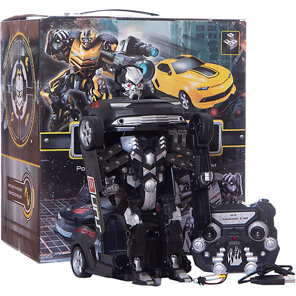 1Toy Робот-трансформер на р/у 1Toy, чёрный