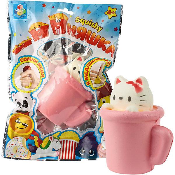 Купить Игрушка-антистресс Мммняшка Мини-кошка в чашке , 1Toy, Китай, разноцветный, Унисекс